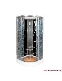 Душевая кабина Deto BM 1590 с электрикой и гидромассажем (90х90х220)