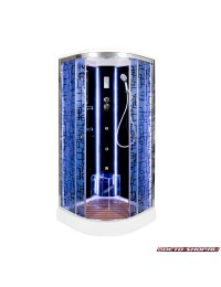 Душевая кабина Deto BM 1590 LED с led подсветкой и гидромассажем (90х90х220)