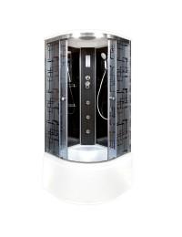 Душевая кабина Deto BM 4510 с электрикой и гидромассажем (100х100х220)