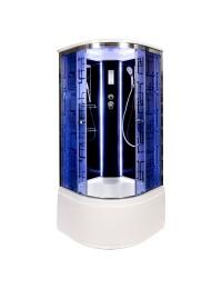 Душевая кабина Deto BM 4510 LED с led подсветкой (100х100х220)
