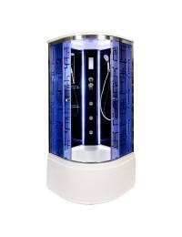 Душевая кабина Deto BM 4510 LED с led подсветкой и гидромассажем (100х100х220)