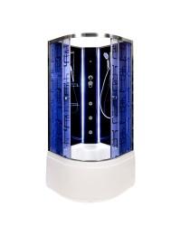 Душевая кабина Deto BM 4510 N LED без крыши с led подсветкой и гидромассажем (100x100х208)
