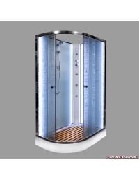 Душевая кабина Deto EM 1511 N R LED правая без крыши с led подсветкой и гидромассажем (110x80х200).