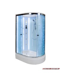 Душевая кабина Deto EM 2712 L LED с led подсветкой и гидромассажем (120х80х220)