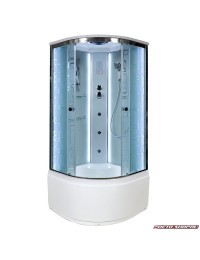 Душевая кабина Deto EM 4510 LED с led подсветкой и гидромассажем (100х100х220).