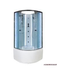 Душевая кабина Deto EM 4510 N LED без крыши с led подсветкой и гидромассажем (100x100х207).