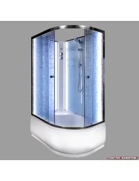 Душевая кабина Deto EM 4511 N L LED без крыши с led подсветкой (110x80х207).