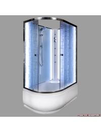 Душевая кабина Deto EM 4511 N R LED без крыши с led подсветкой и гидромассажем (110x80х207).