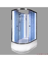 Душевая кабина Deto EM 4511 N R LED без крыши с led подсветкой (110x80х207).