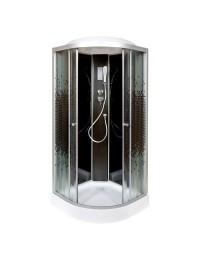 Душевая кабина Deto L 801 Black с электрикой (100x100х215)